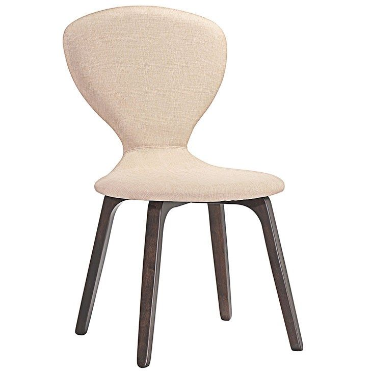 Tempest Dining Side Chair in Walnut Beige