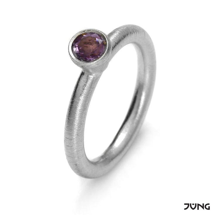 silver ring with amethyst  http://en.dawanda.com/product/95076551-silver-ring-with-amethyst