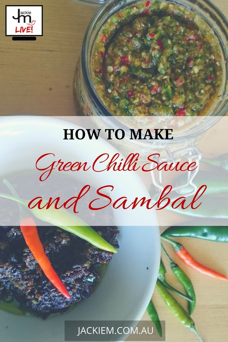Here's the full recipe and blog post on How to Make Green Chilli Sauce and Sambal
