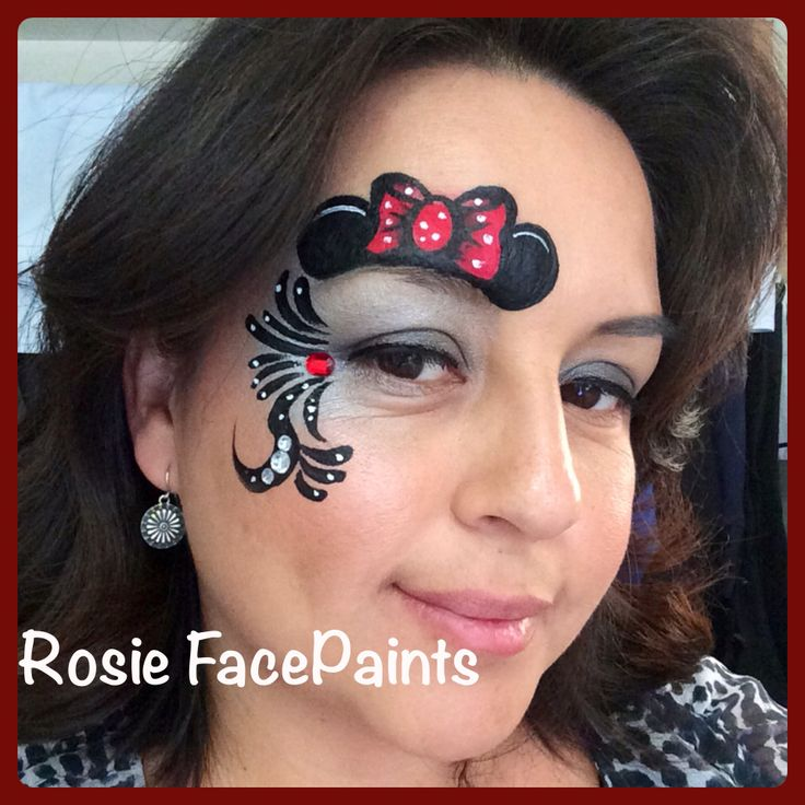the 25 best minnie mouse face painting ideas on pinterest gesicht schminken minnie maus mini. Black Bedroom Furniture Sets. Home Design Ideas