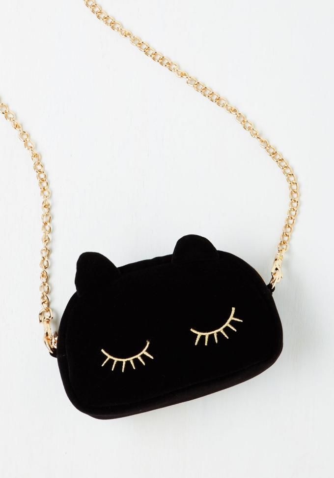 Wholesale 2017 UK fashion sleeping cat lovely and lush bag small cute sleeping kitty cross body chain handbag