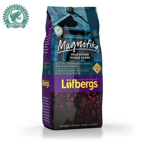 Löfbergs Lila Magnifika 0,4kg (hela bönor) (Kaffe) - Lägsta pris 54:-