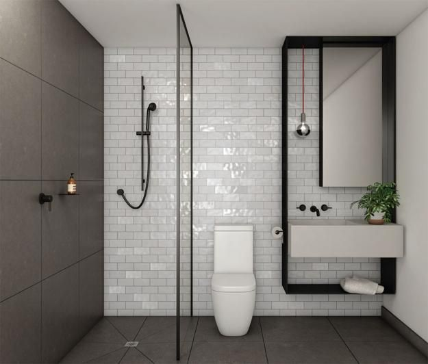 25 best ideas about modern bathrooms on pinterest for Compact bathroom layout