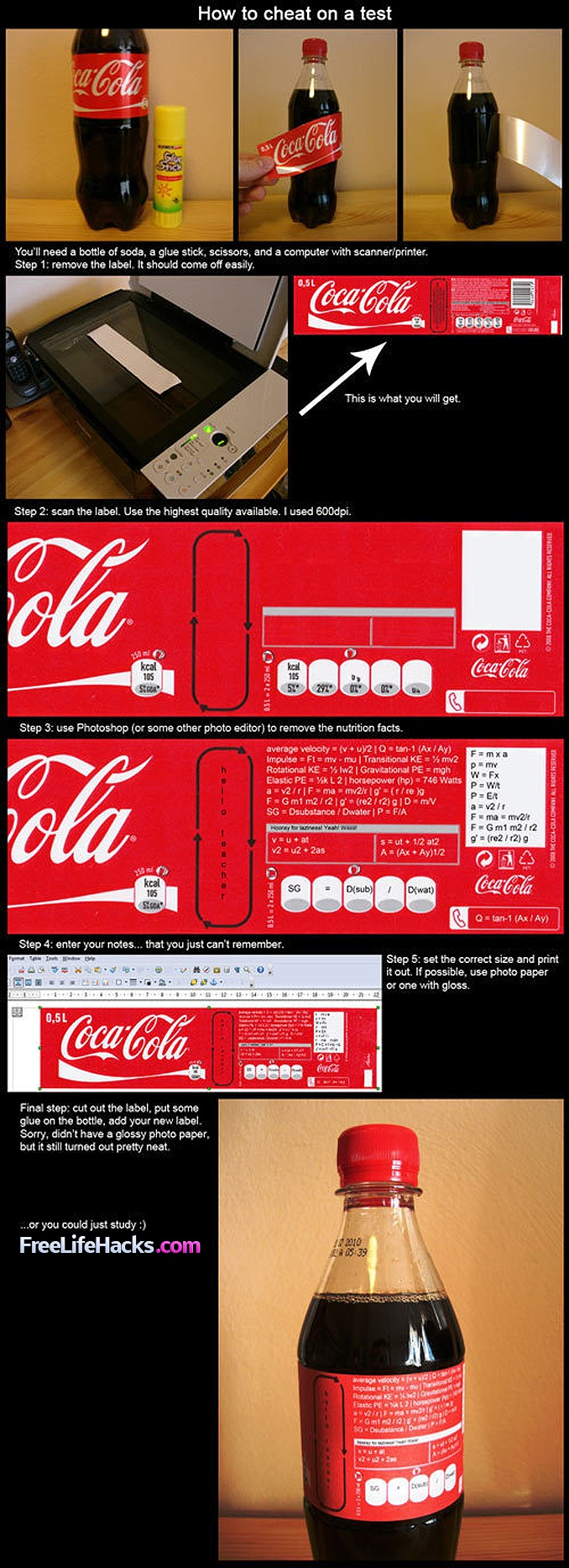 How to cheat on a test infographic <-- Damn kids these days have it so easy :p