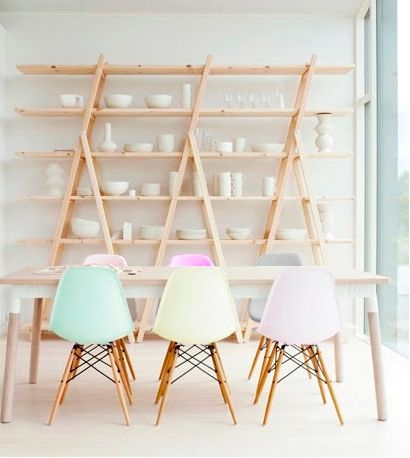 Gorgeous new limited edition pastel coloured Eames chairs | found on Cult Furniture