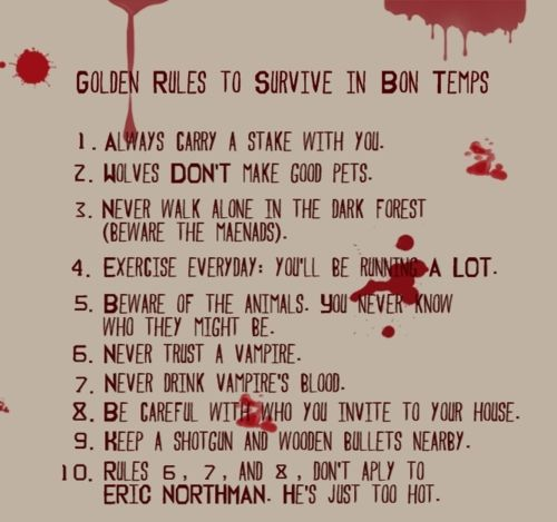 Golden Rules To Survive In Bon Temps