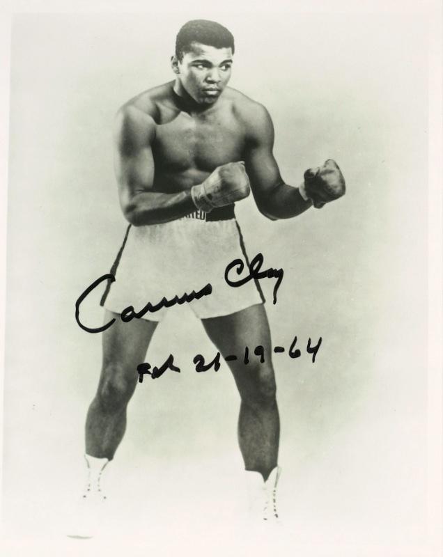 "Hvywgt Champ Muhammad Ali Photo Signed ""Cassius Clay"" RARE   eBay"