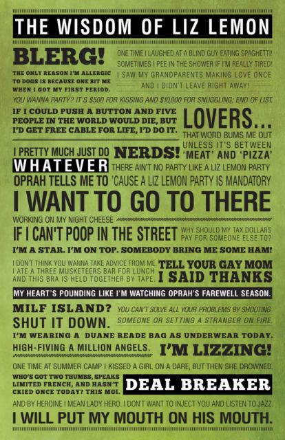 11X17 30 Rock LIZ LEMON Quotes Poster Wisdom Of by PoppinsDesign,