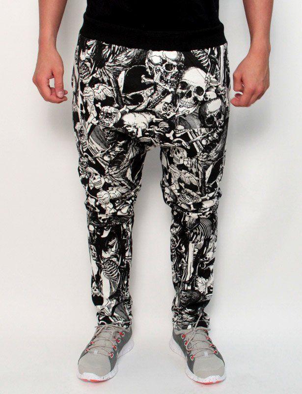 skull sweatpants - minimarket