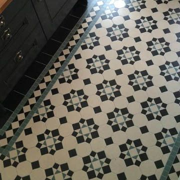 London Mosaic   Ceramic Kitchen Floor Tiles