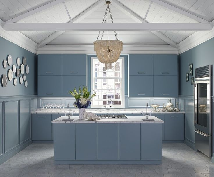 Benjamin Mooreu0027s Partnered With Kohler Kitchens And Bathrooms   Province  Blue