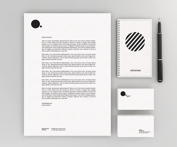 Corporate Identity of Kreatywne Pisanie / Project: Brandnation (www.brandnation.pl)