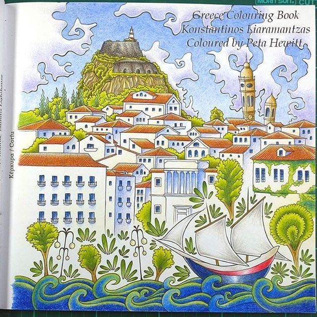 #corfu from #greececolouringbook. Coloured by @peta_hewitt…