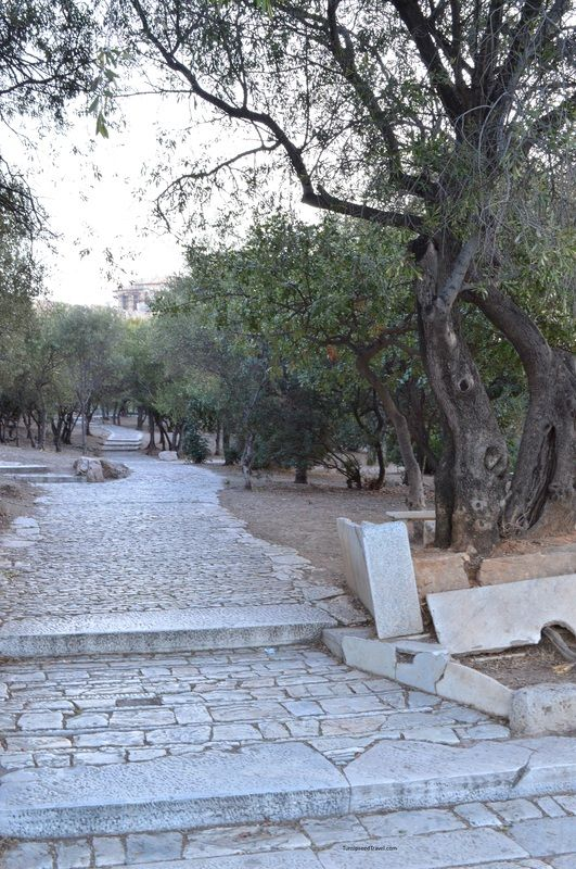 """Empty path on route to the Acropolis Athens #travel """"Photo by TurnipseedTravel.com"""""""