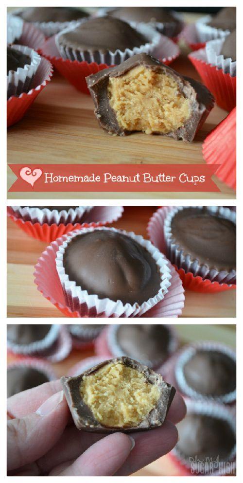 Homemade Peanut Butter Cups - so yummy! via @Emilie Claeys