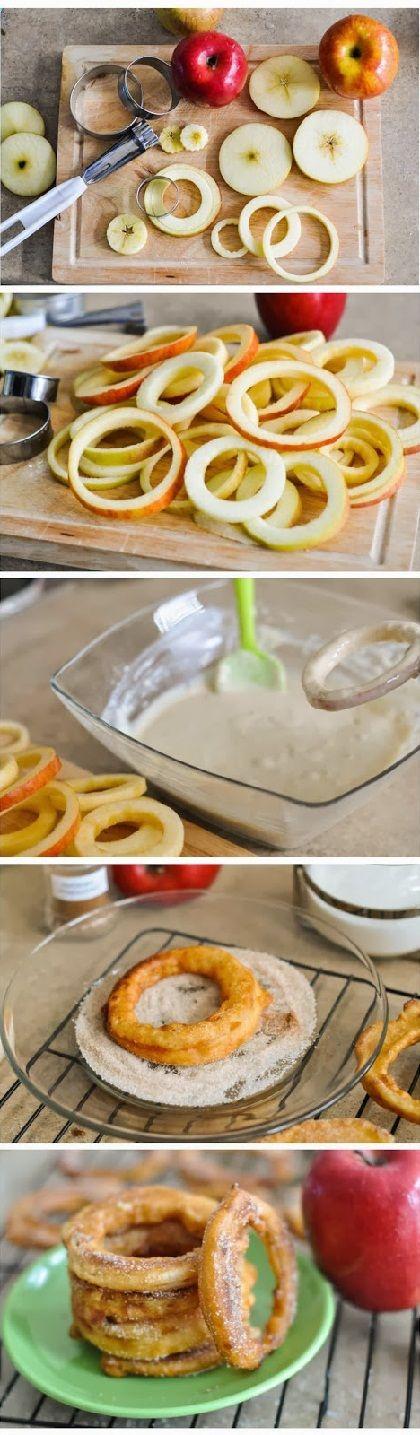 Apple Cinnamon Rings- easy, pretty healthy, and so good!