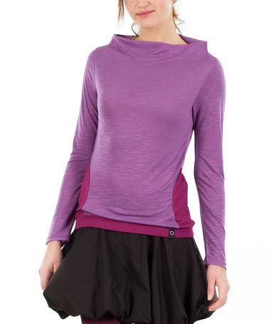 Love this Fuchsia Melange Boatneck Sweater on #zulily! #zulilyfinds