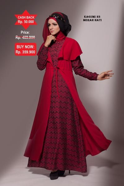 Baju Longdress Pesta Ethica Kagumi 23 Merah