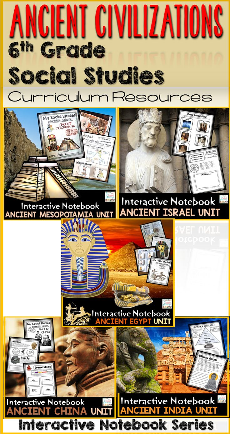 Ancient Civilizations - 6th Grade Social Studies Curriculum - Interactive Notebook Series for Sixth Graders!