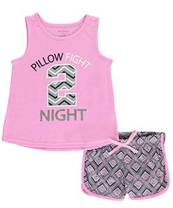 "Delia's Big Girls' ""Pillow Fight Night"" 2-Piece Pajamas (Sizes 7 – 16) - CookiesKids.com"