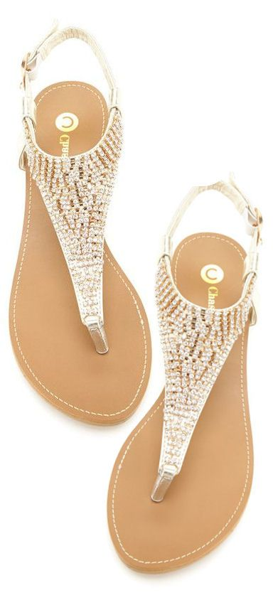 Jeweled Sandals |www.escherpe.com I like these, something like this to go with the cover up if possible, but comfy, not a flat hard sole.