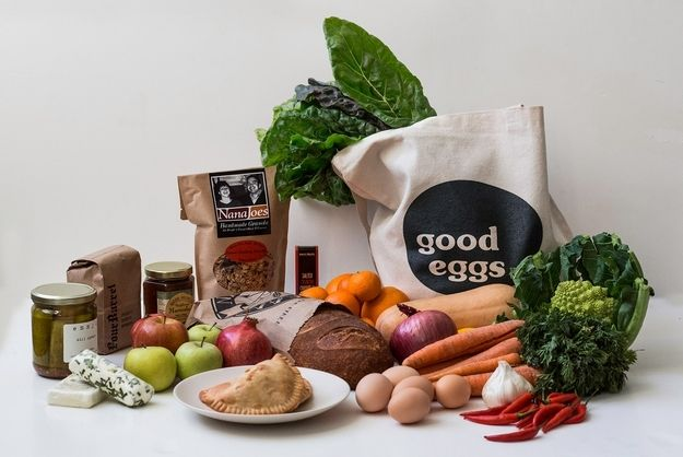 "Good Eggs --> ONLINE GROCER DELIVERS EXCLUSIVELY LOCAL GOODS. ""Our mission is to grow and sustain local food systems worldwide.""  http://www.goodeggs.com/welcome"
