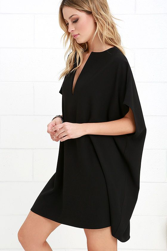 Walking Through The Front Door Seeing Your Black Dress Part - 35: Minimal Fashion Lovers All Agree That The Simply Marvelous Black Shift Dress  Is Where Itu0027s At! Chic Shift Has A Collarless Neckline, V-front, And  Wide-cut ...