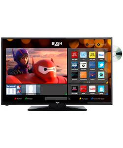 Bush 24 inch HD Ready Smart TV with DVD Player - Black.