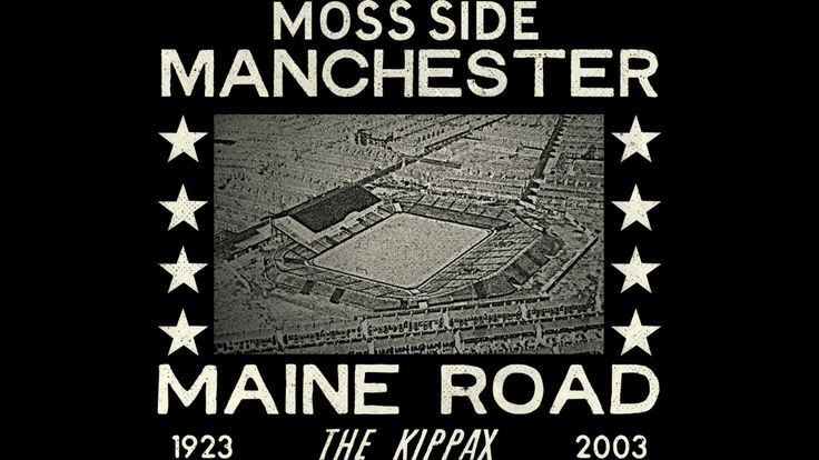 Maine Road Football Ground is a T Shirt designed by Homework to illustrate your life and is available at Design By Humans