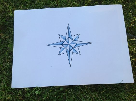 How to Draw a Beautiful Compass Rose - I have done this with Grade 4/5s..they loved it!