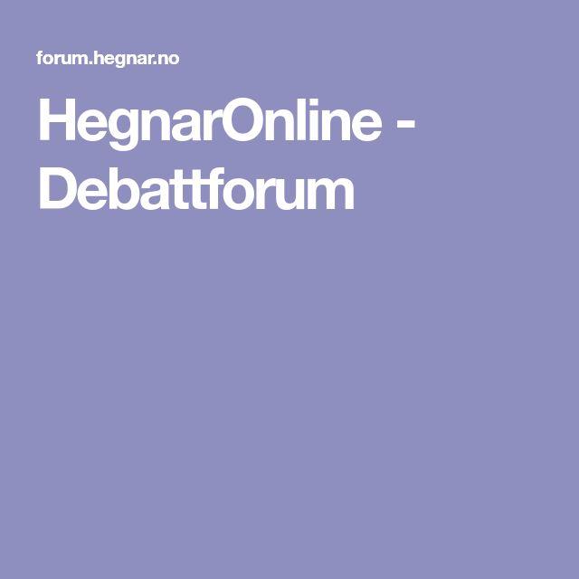 HegnarOnline - Debattforum