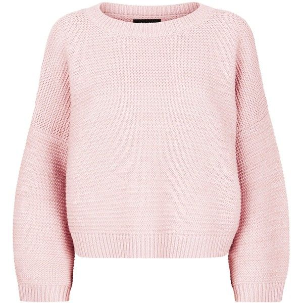 fe862e91f7f Pale Pink Wide Sleeve Jumper (295 ZAR) ❤ liked on Polyvore ...