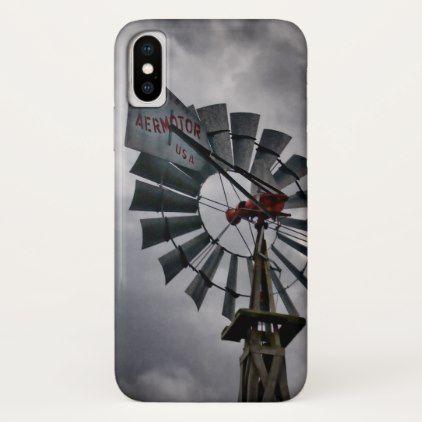 Aermotor iPhone X Case - western style diy unique customize stylish