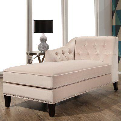 Macdonald Velvet Chaise Lounge Upholstery: Ivory - http://delanico.com/chaise-lounges/macdonald-velvet-chaise-lounge-upholstery-ivory-725782331/