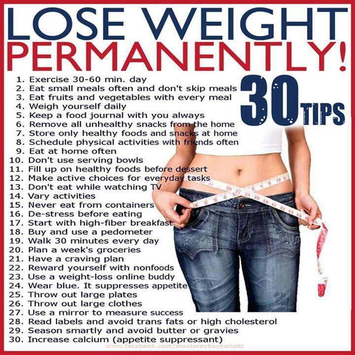 30 Permanent Weightloss Tips