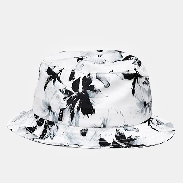 Huf Floral Bucket Hat - White £40