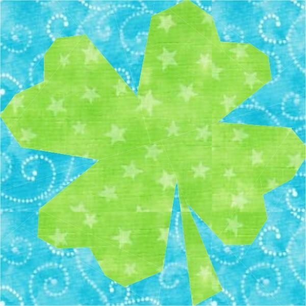 shamrock paper piecing quilt block pattern