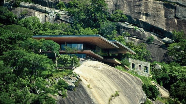 East African Cliffside House
