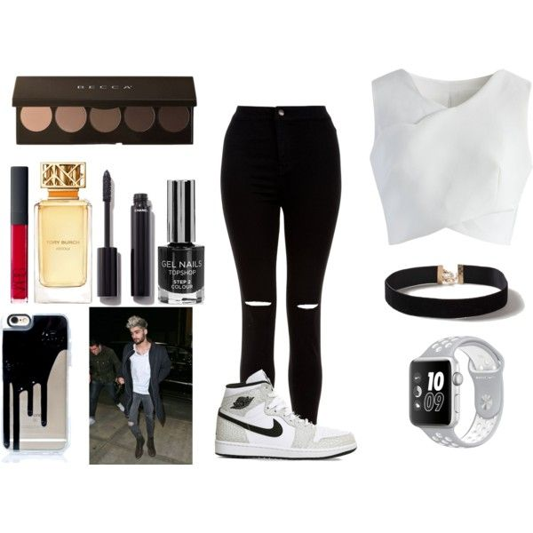 out w/ zayn mailk by keiraashlyncliford on Polyvore featuring moda, Chicwish, New Look, Dorothy Perkins, NIKE, Chanel, NARS Cosmetics and Tory Burch