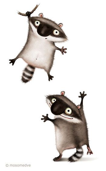 I think Raccoons are the cleverest creatures around.  Of course they can be a huge pain in the butt if they want something you have, but they are so cute while wrecking your life.  I love them.