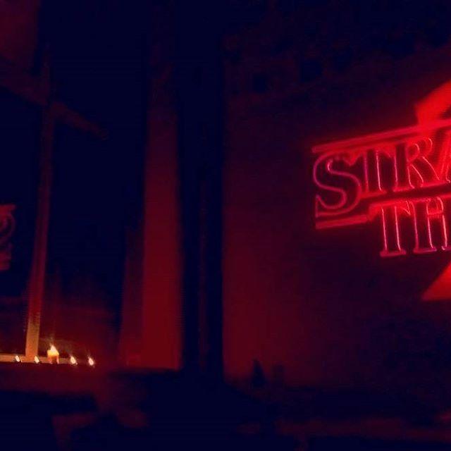 !!! . . . . #school #time #strangerthings #red #light