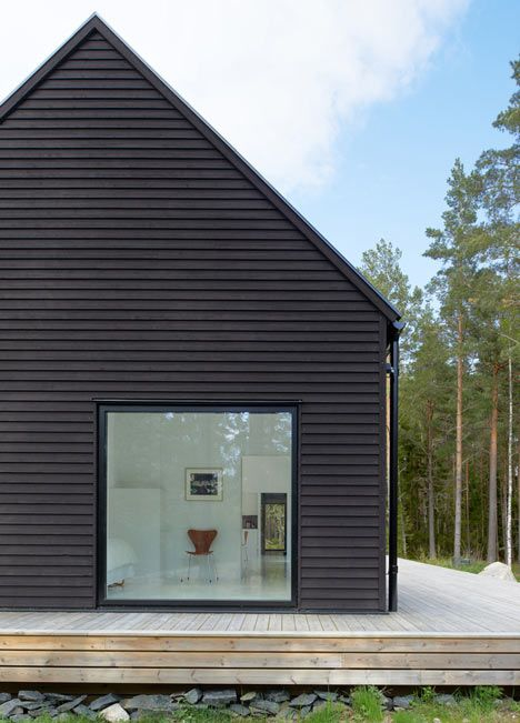 Villa Wallin by Swedish studio Erik Andersson Architects on an island in the Stockholm archipelago.