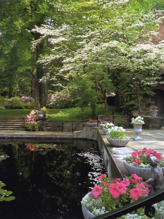 Winterthur's gardens -- Reflecting Pool.  I used to sit here on my lunch hour and read...so peaceful.