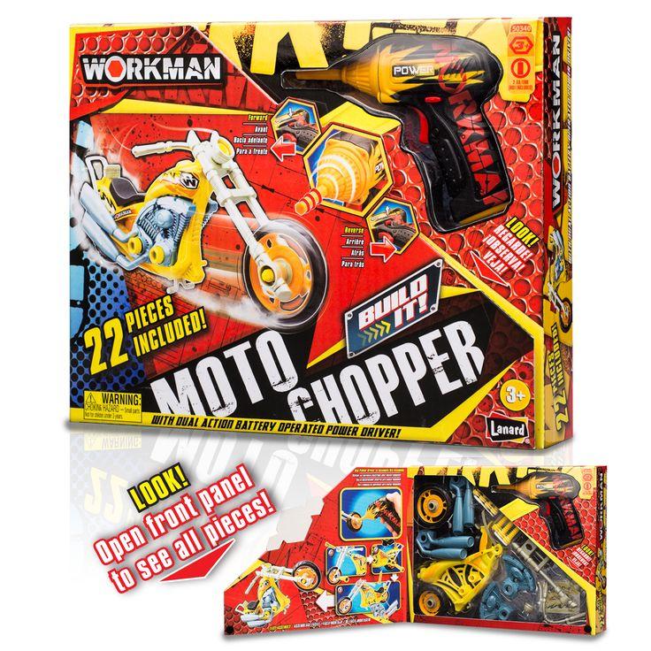 Lanard Workman ''Build Your Own'' Moto Chopper Kit