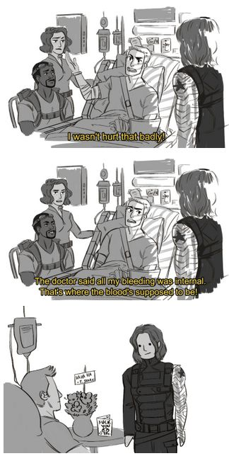 captain america steve rogers fanart<< That card on the bedside table :'D