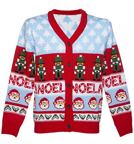 Unisex Retro Noel Christmas Cardigan from Cheesy Christmas Jumpers Cheesy Christmas Jumpers http://www.amazon.co.uk/dp/B00OERZTOC/ref=cm_sw_r_pi_dp_TFQ-vb0NK94AS