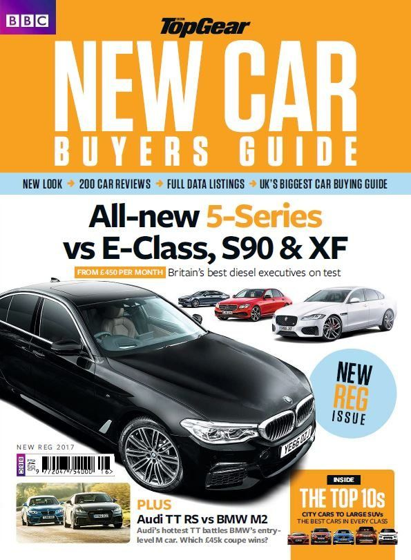 New look > 200 Car reviews > Full data listings > UK's biggest car buying guide  All-new 5-Series vs E-Class, s90 & XF From £450 per month - Britain's best diesel executives on test PLUS: Audi TT vs BMW M2 The TOP 10s - city cars to large SUVs