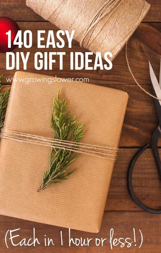 Easy Diy Gifts Diy Gifts And Easy Diy On Pinterest: 140 Easy DIY Gift Ideas You Can Finish In Under One Hour