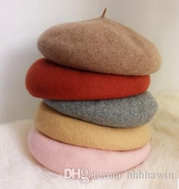 2017 New Arrival Winter Beret Hat All Match Beret Warm Woolen Hats Adult Candy Caps France Wool Beret From Hhhhawin, $13.57 | Dhgate.Com