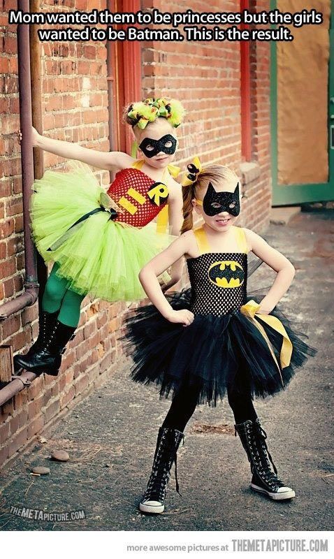 So olivia wanted to look at halloween costumes out of the blue today, she found this one and decided that she will be robin and I get to be batman, maybe daddy can be the joker.